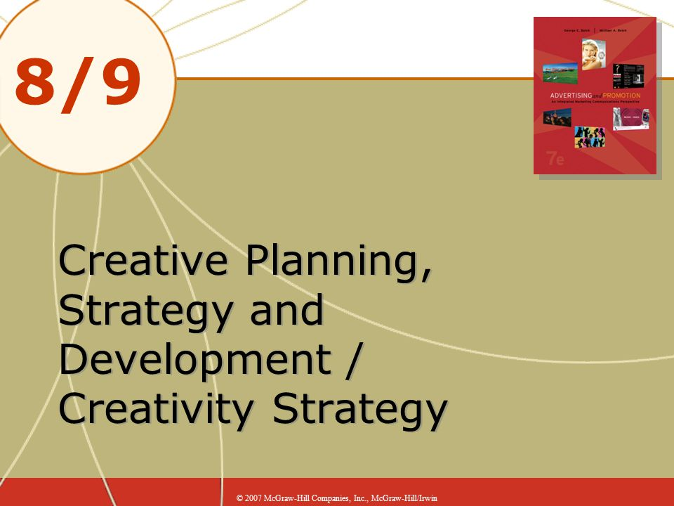 Creative Planning, Strategy and Development / Creativity Strategy
