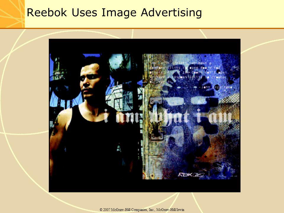 Reebok Uses Image Advertising