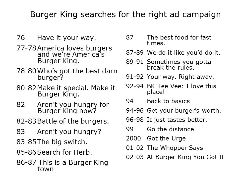Burger King searches for the right ad campaign