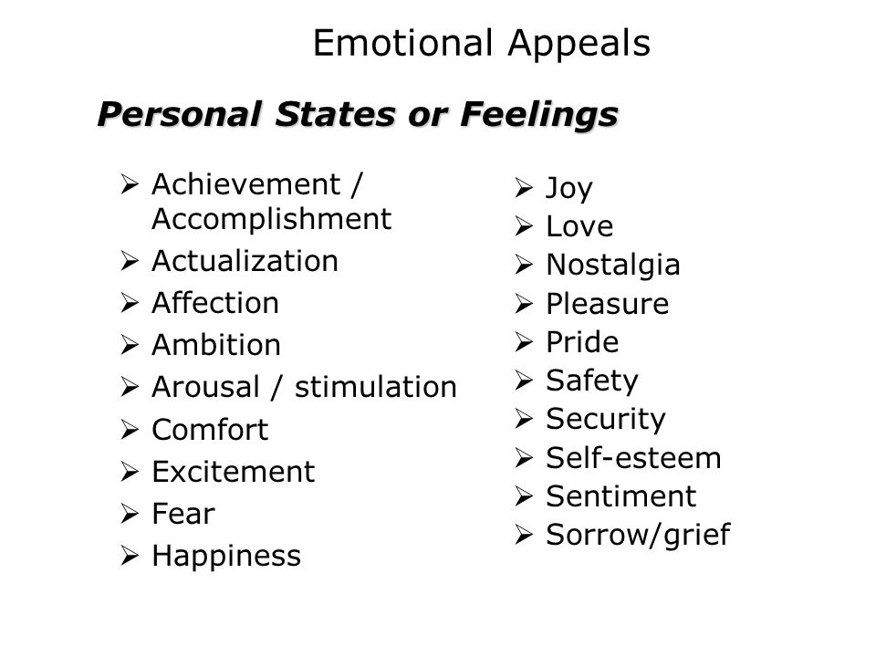 Personal States or Feelings