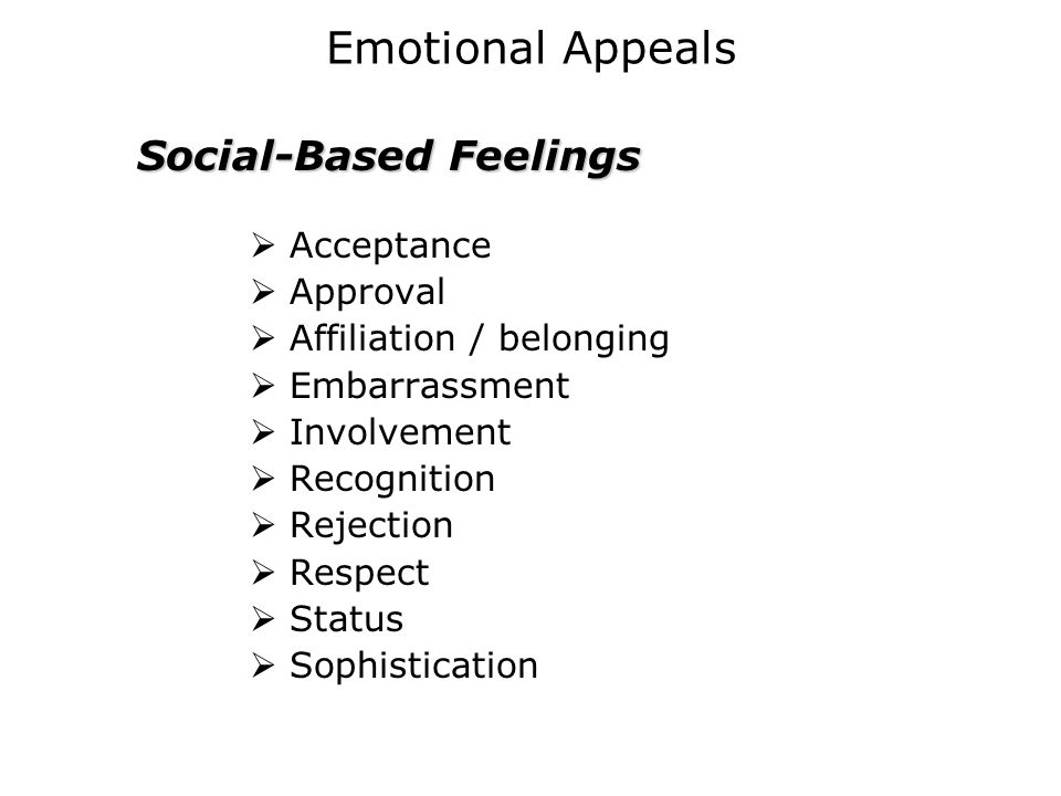Social-Based Feelings
