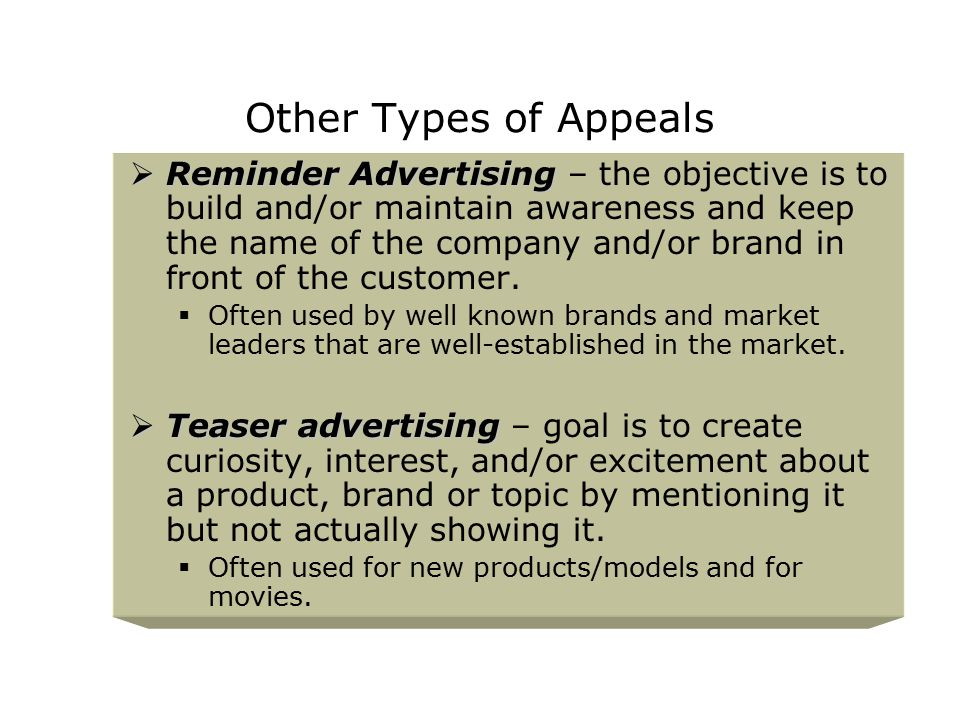 Other Types of Appeals