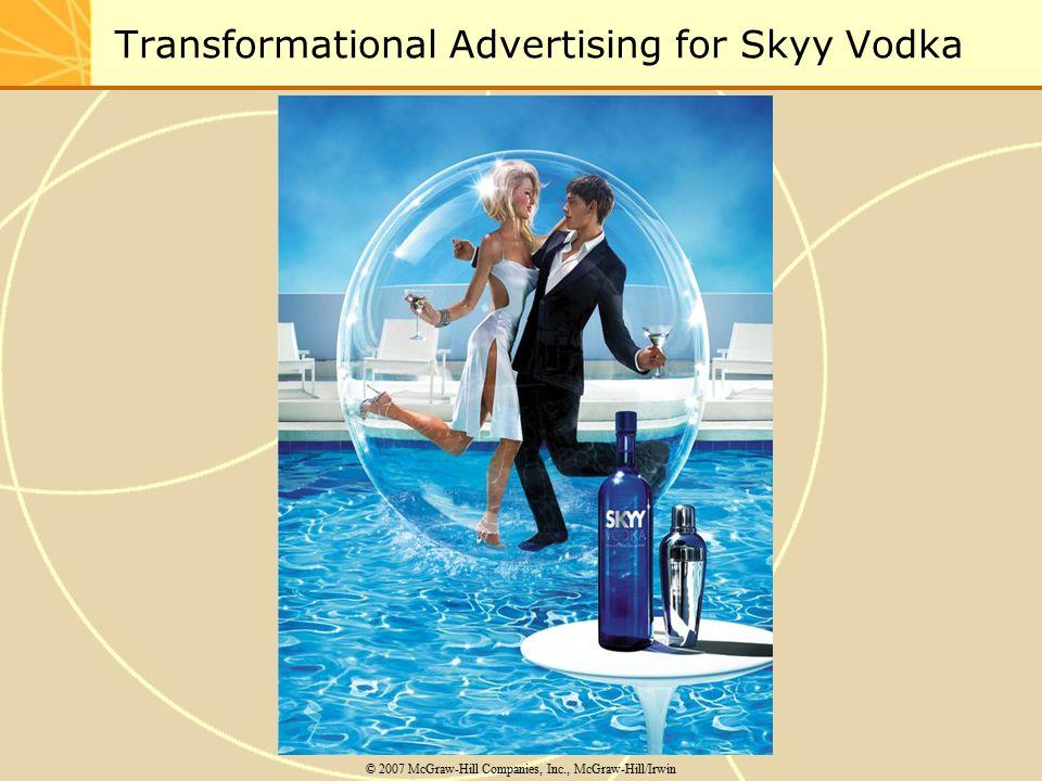 Transformational Advertising for Skyy Vodka