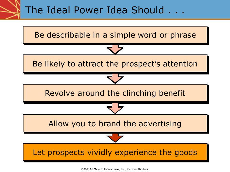 The Ideal Power Idea Should . . .