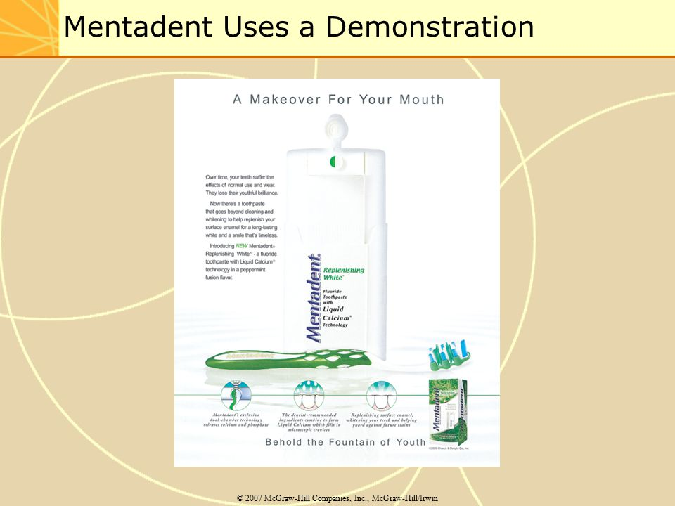 Mentadent Uses a Demonstration