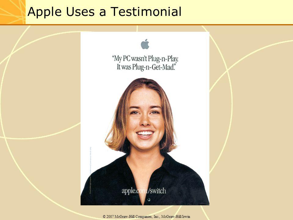 Apple Uses a Testimonial