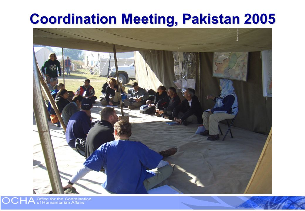Coordination Meeting, Pakistan 2005