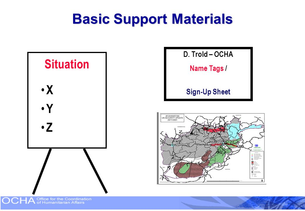Basic Support Materials