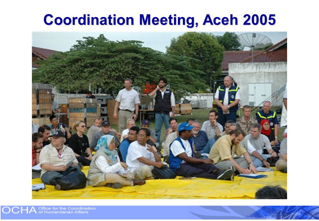 Coordination Meeting, Aceh 2005