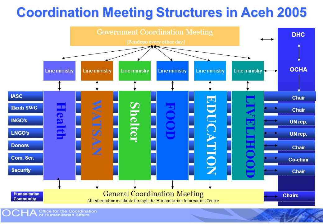 Coordination Meeting Structures in Aceh 2005