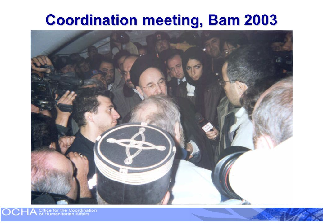 Coordination meeting, Bam 2003