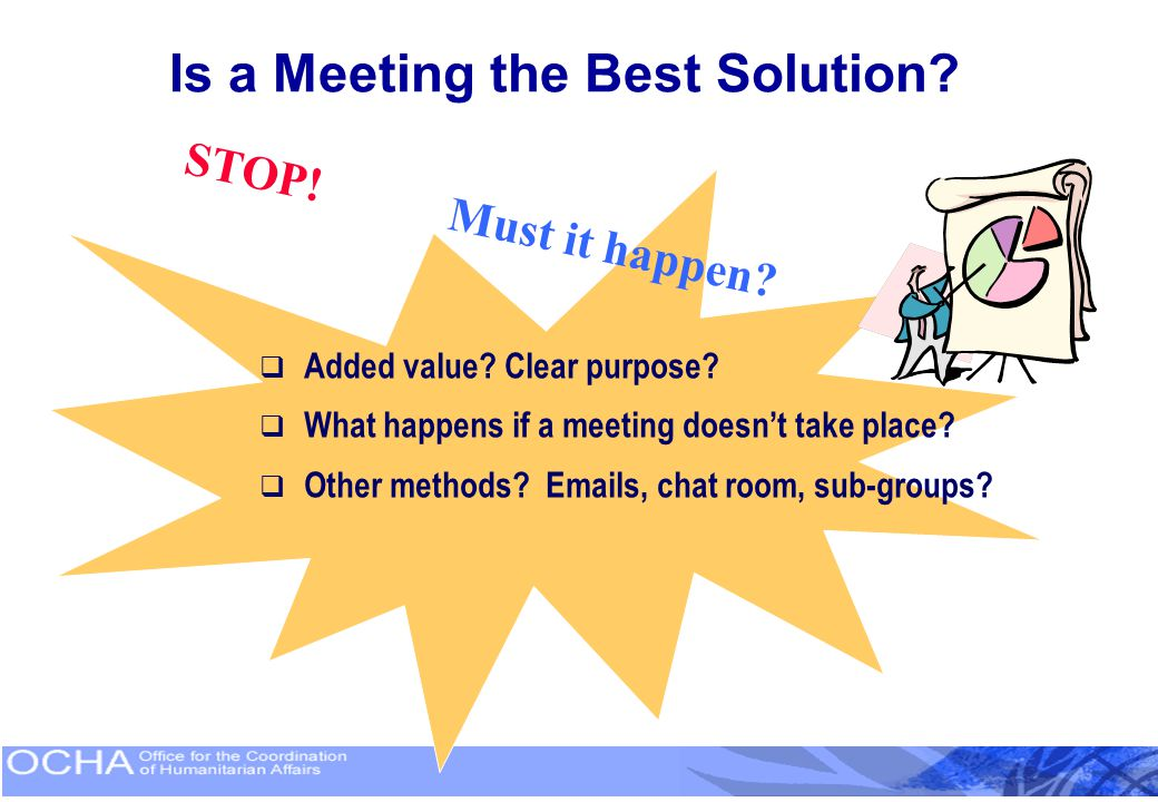 Is a Meeting the Best Solution