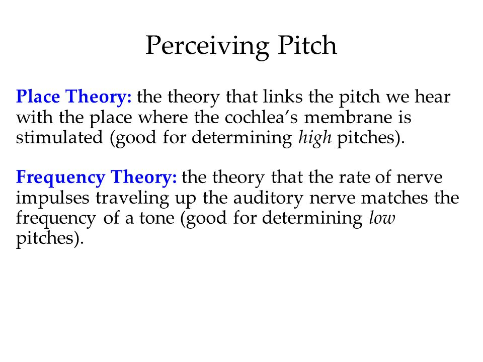 Perceiving Pitch