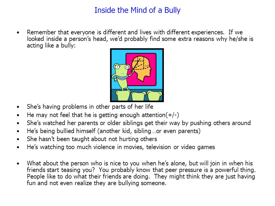 Inside the Mind of a Bully