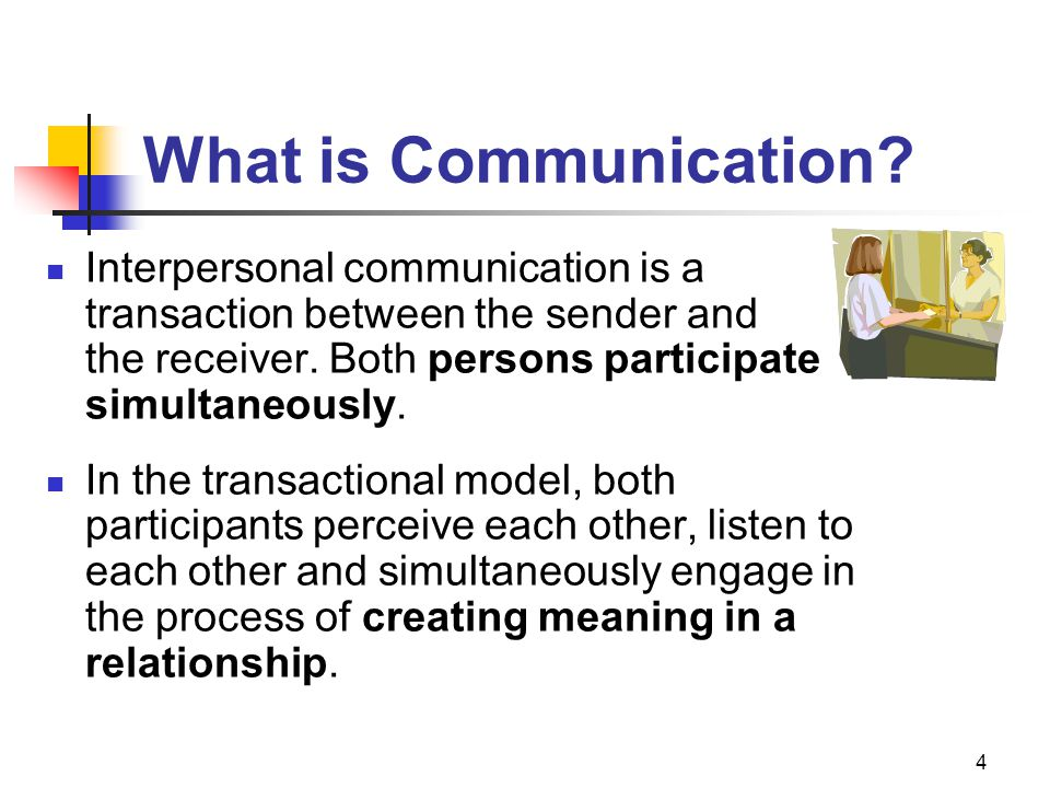 What is Communication Interpersonal communication is a