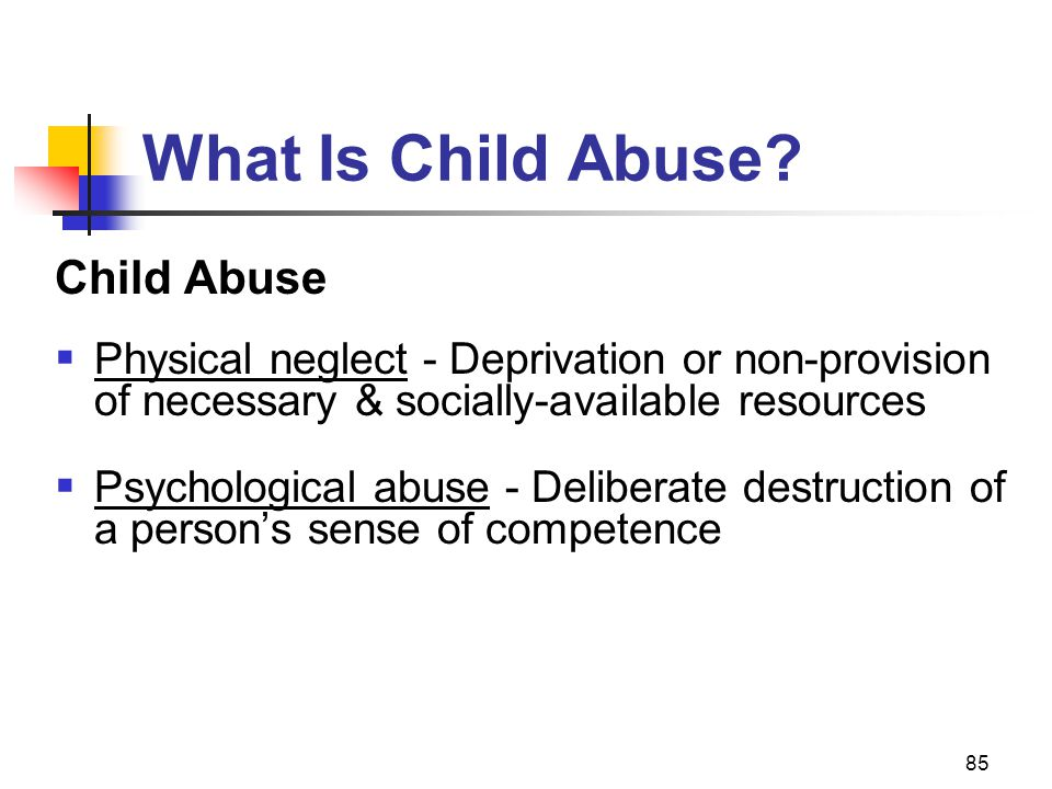 What Is Child Abuse Child Abuse