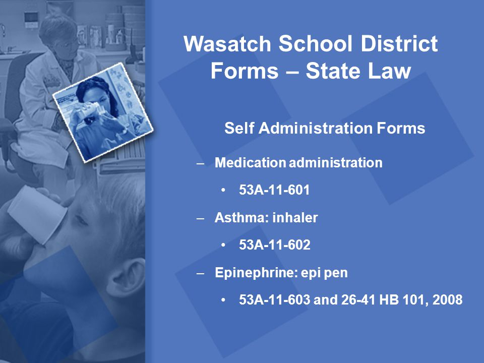 Wasatch School District Forms – State Law