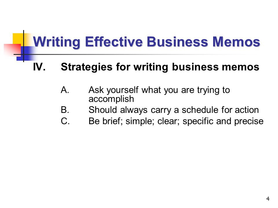 Lecture  Writing Effective Business Memos  Ppt Video Online