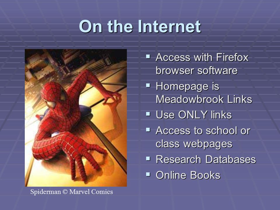 On the Internet Access with Firefox browser software