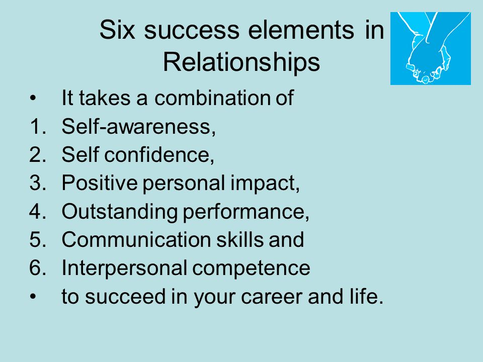 Six success elements in Relationships