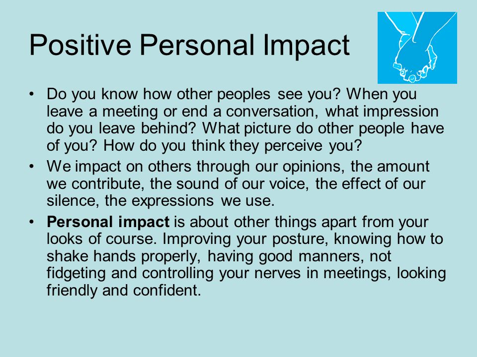 Positive Personal Impact