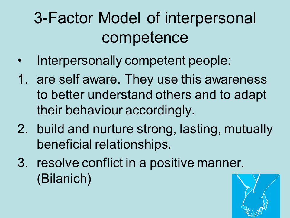 3-Factor Model of interpersonal competence