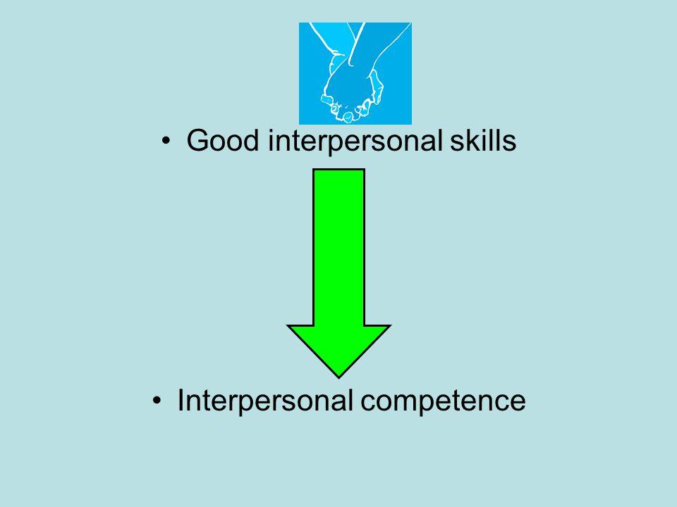 Good interpersonal skills