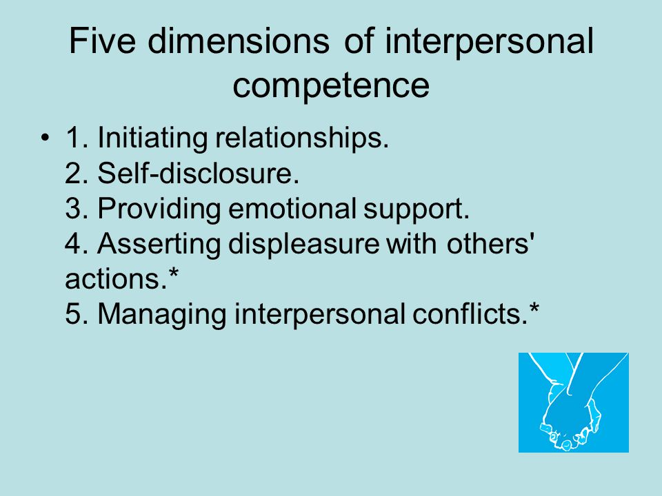 Five dimensions of interpersonal competence