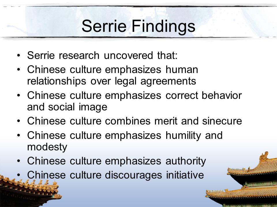 Serrie Findings Serrie research uncovered that: