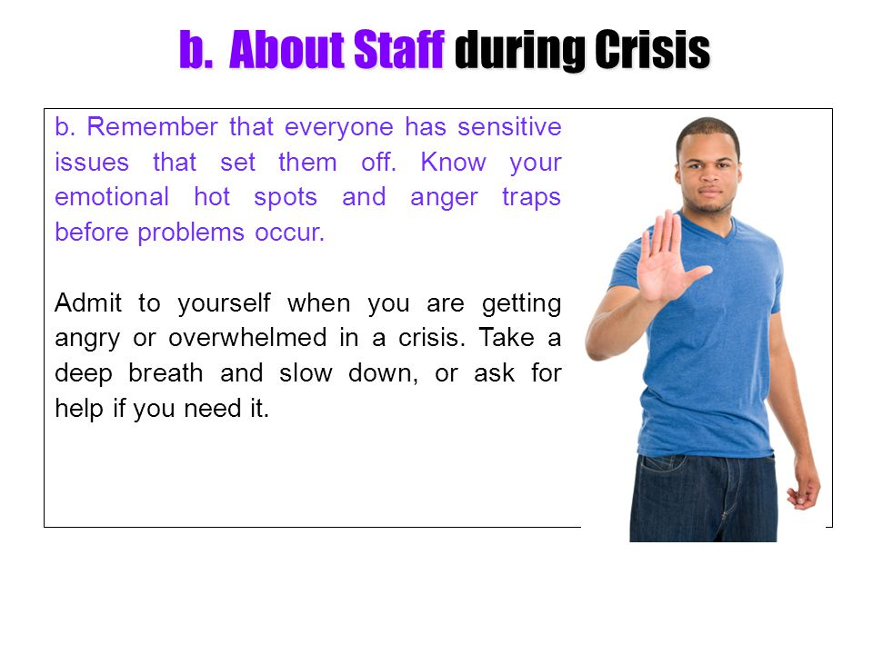 b. About Staff during Crisis