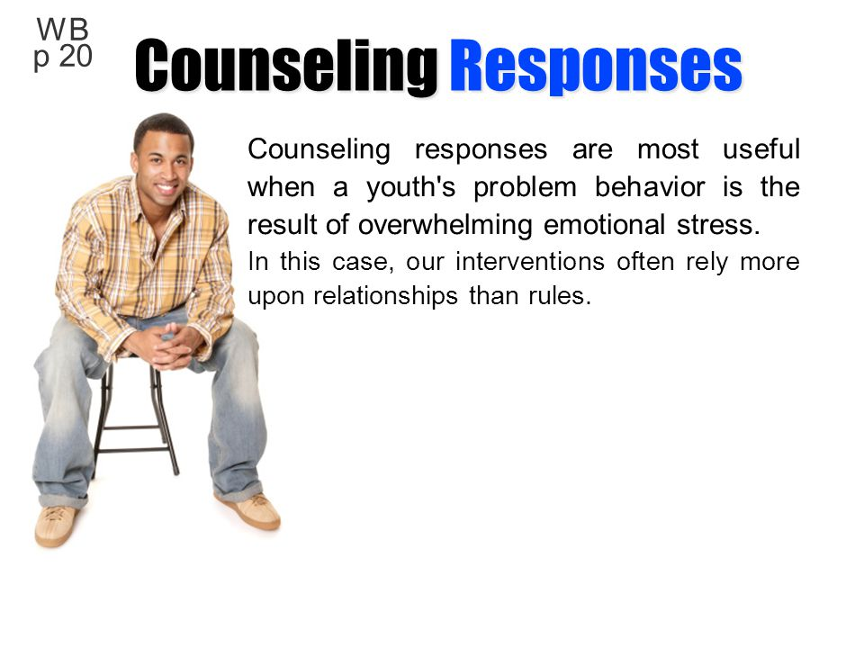 Counseling Responses WB p 20
