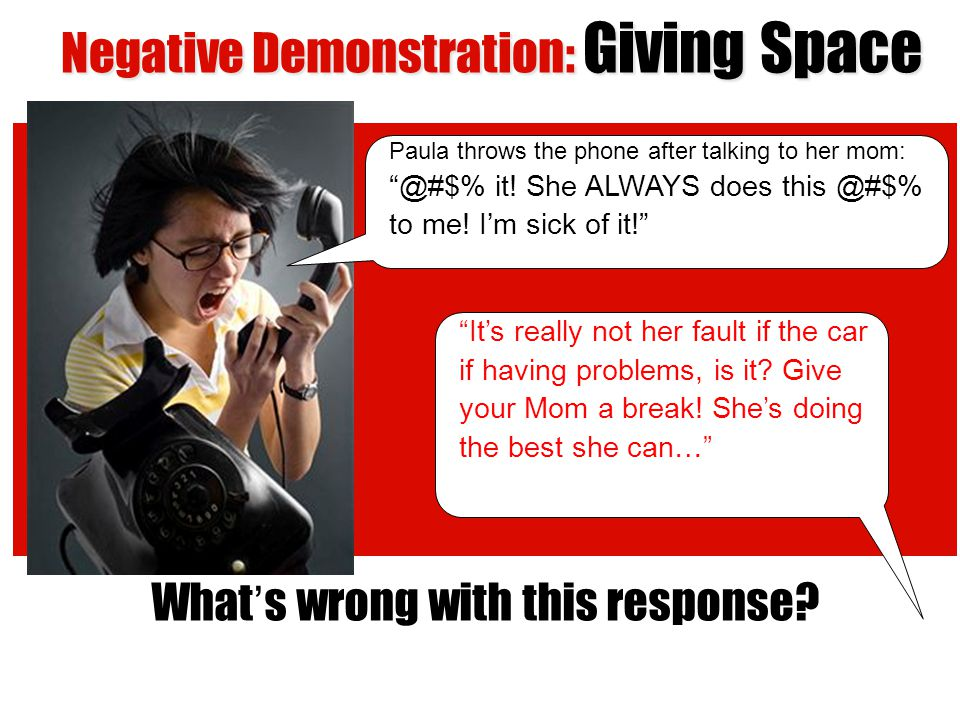 Negative Demonstration: Giving Space