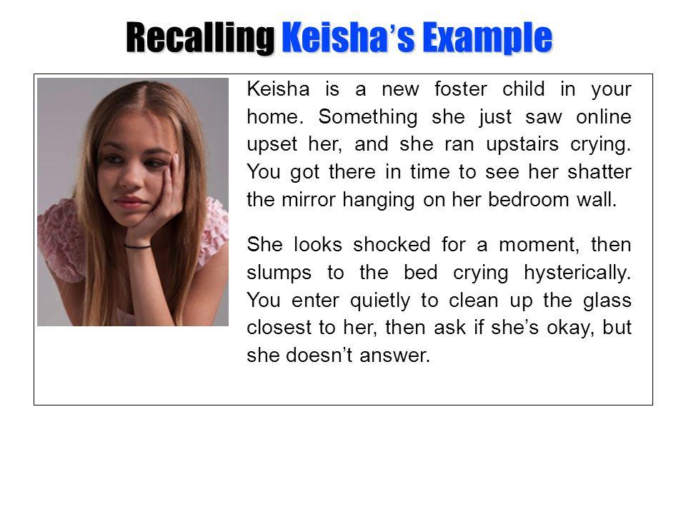Recalling Keisha's Example