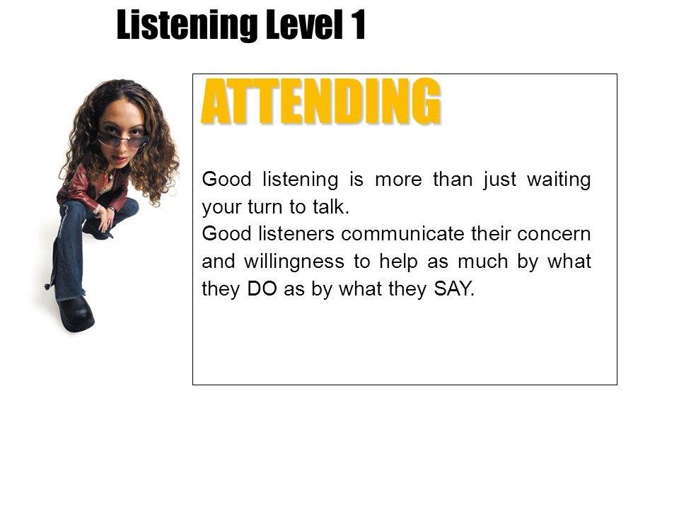 ATTENDING Listening Level 1