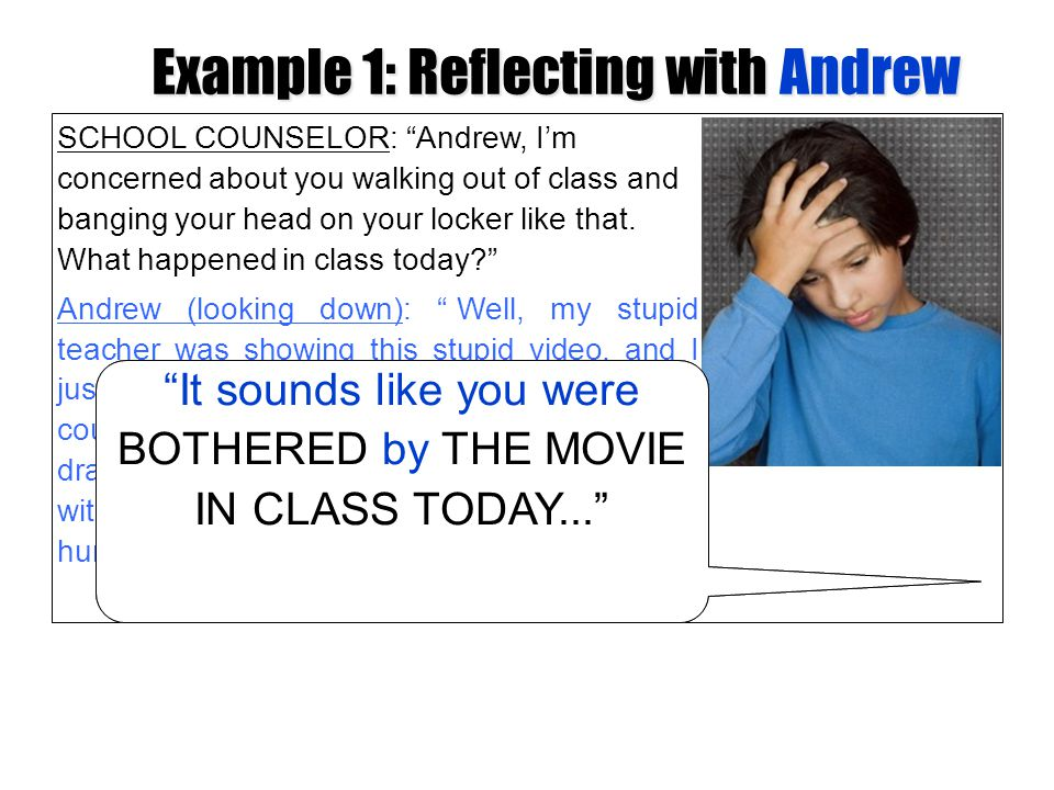 Example 1: Reflecting with Andrew