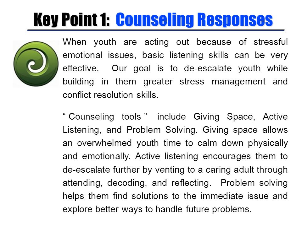 Key Point 1: Counseling Responses