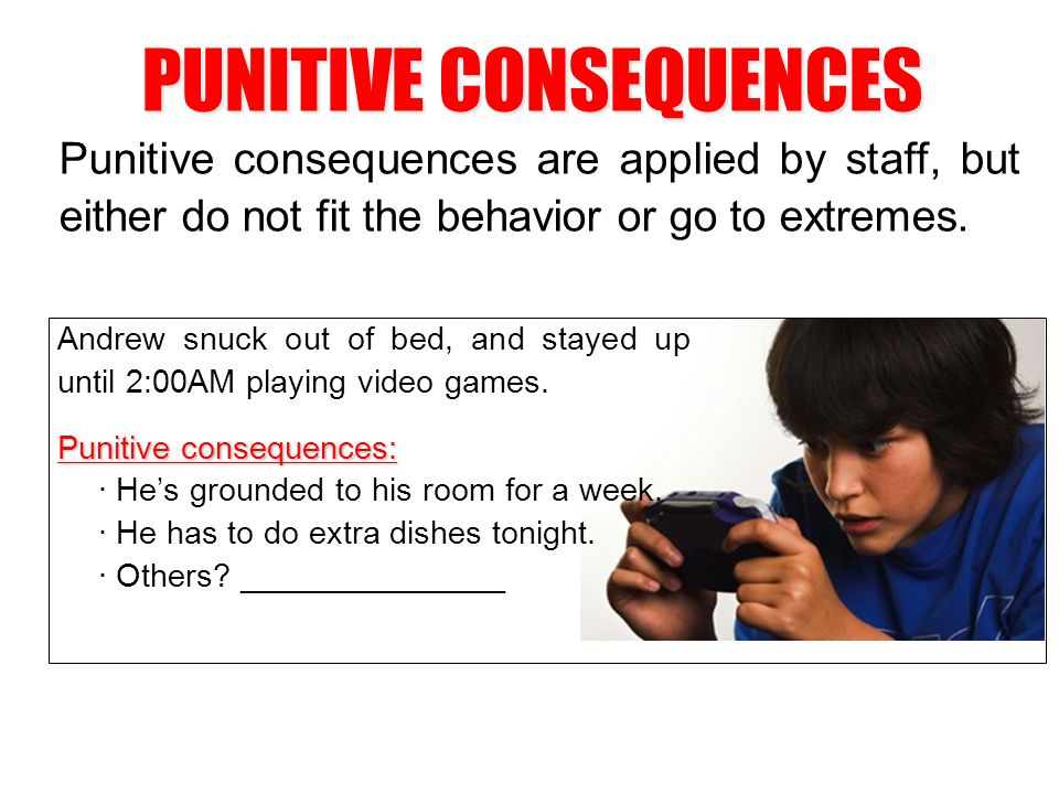PUNITIVE CONSEQUENCES