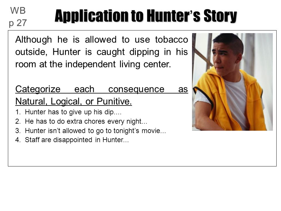 Application to Hunter's Story