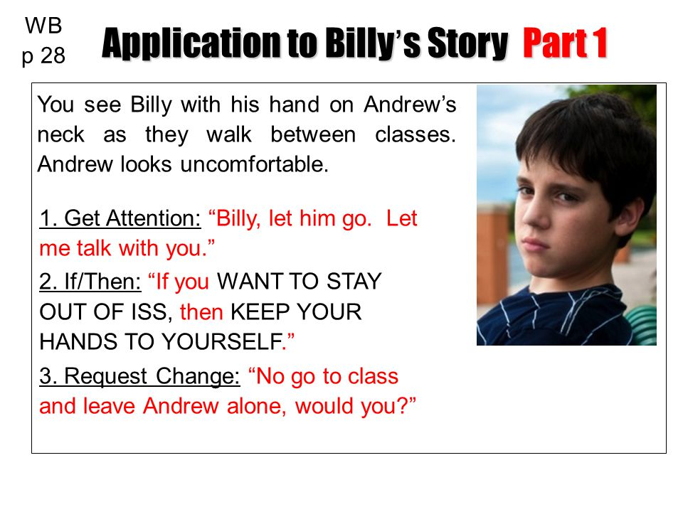 Application to Billy's Story Part 1