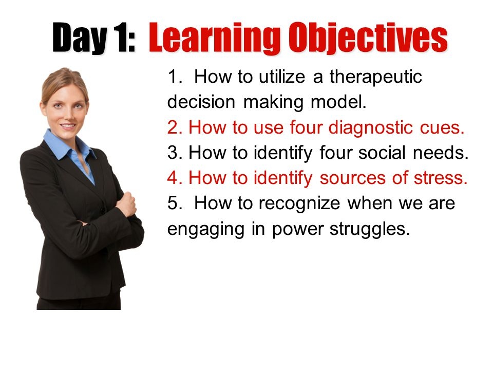 Day 1: Learning Objectives
