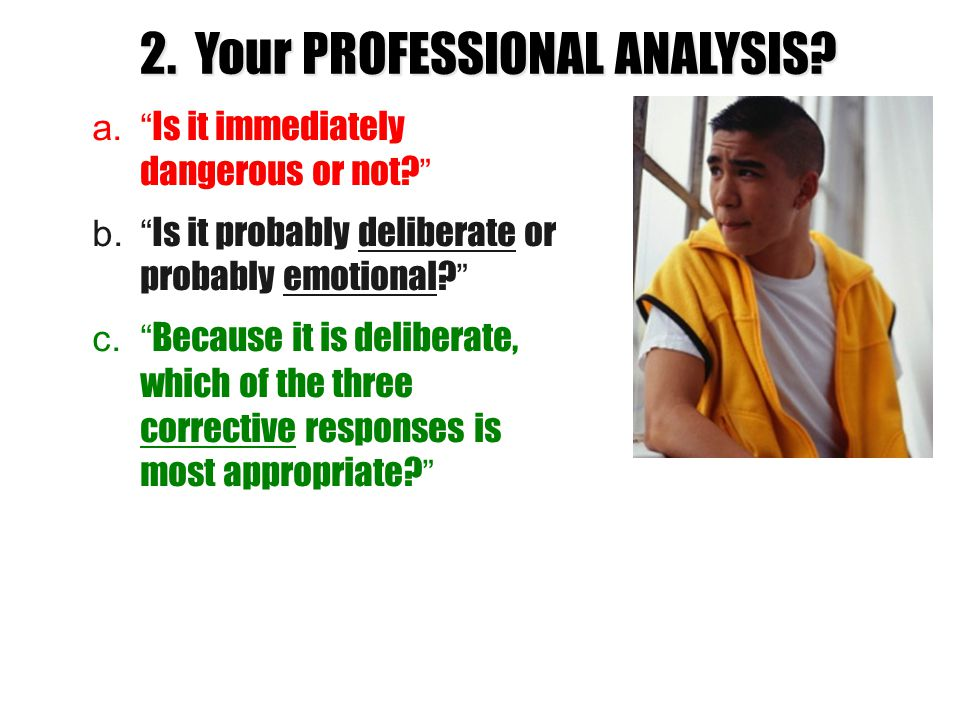 2. Your PROFESSIONAL ANALYSIS