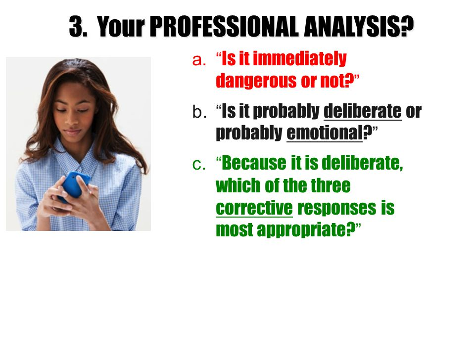 3. Your PROFESSIONAL ANALYSIS
