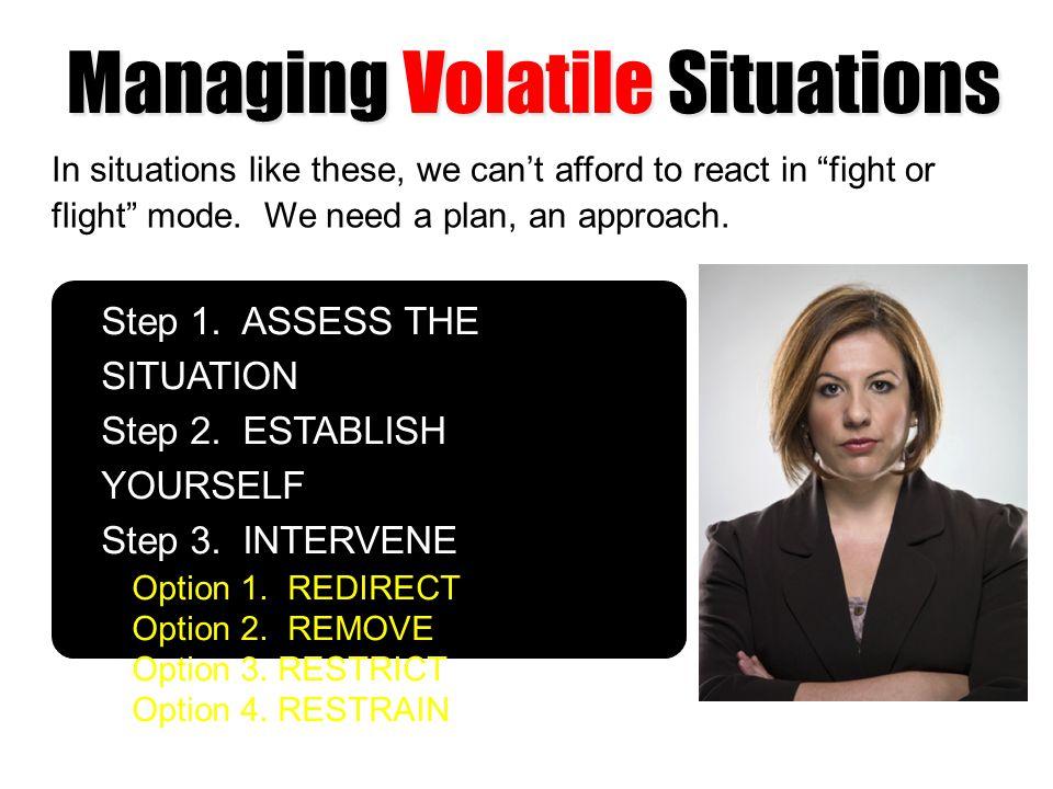 Managing Volatile Situations