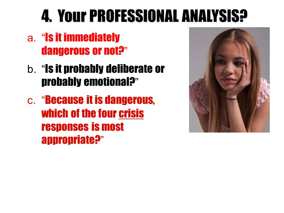 4. Your PROFESSIONAL ANALYSIS