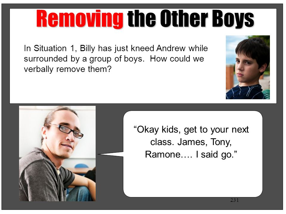 Removing the Other Boys