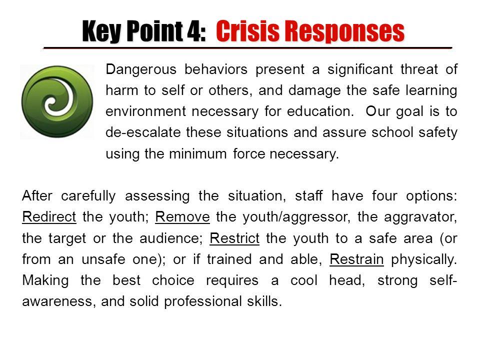 Key Point 4: Crisis Responses