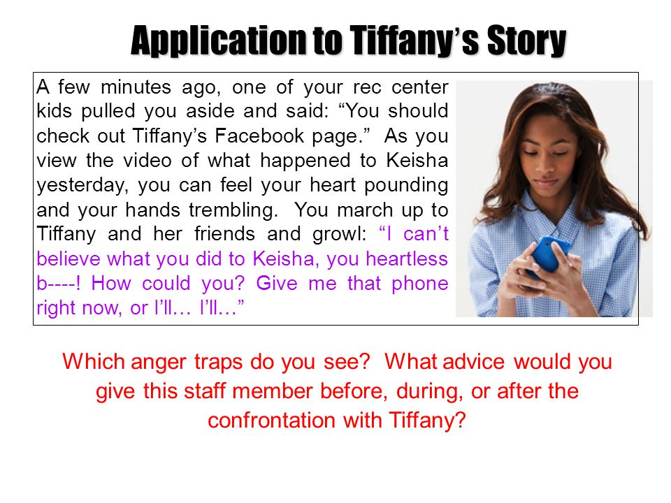 Application to Tiffany's Story