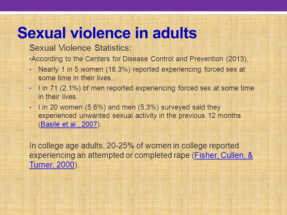 Sexual violence in adults