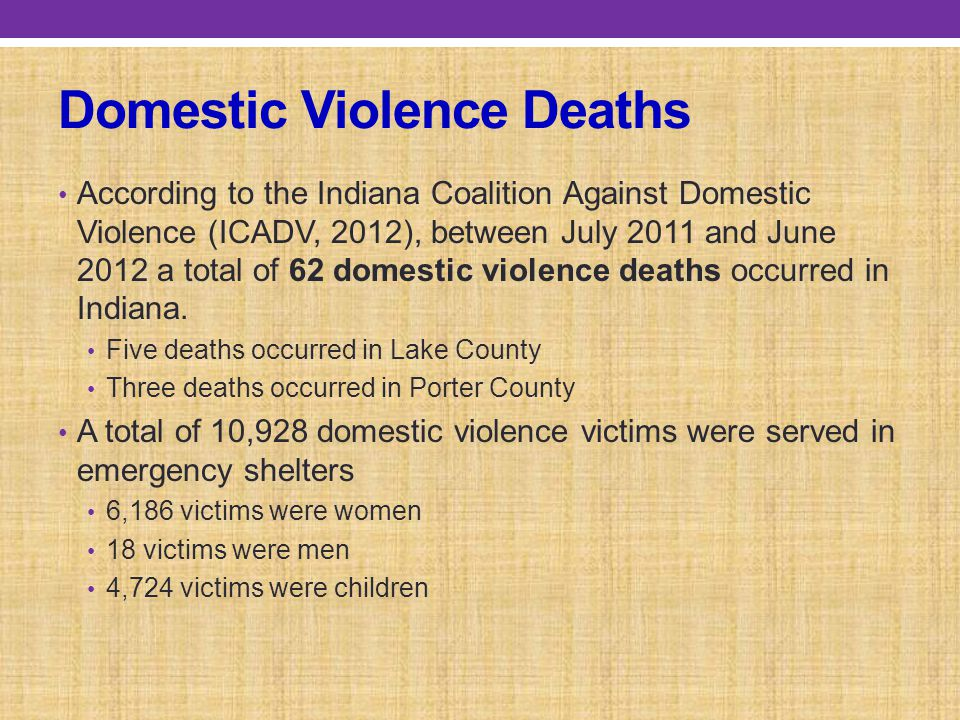 Domestic Violence Deaths