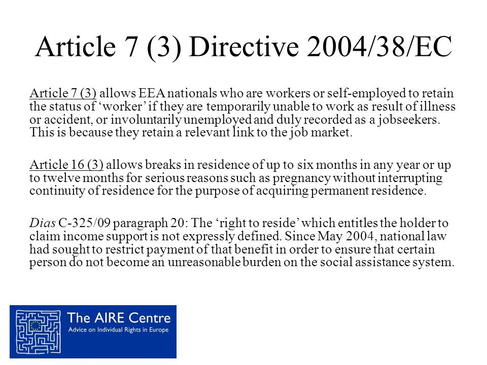 Article 7 (3) Directive 2004/38/EC